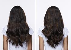 Thick wavy hair